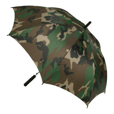 Large Umbrella Woodland Camo Brolly Golf Festival Hunting Fishing Camping Hiking