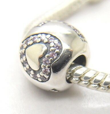 Authentic Genuine S925 Sterling Silver Surrounded By Love Pink Cz 791196PCZ