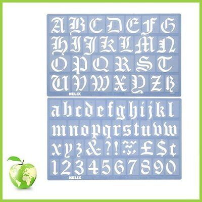 Alphabet stencil set Helix old english alphabet stencil set 30mm