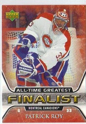 2005-06 Upper Deck Patrick Roy All-Time Greatest Finalist 31 Canadiens Avalanche