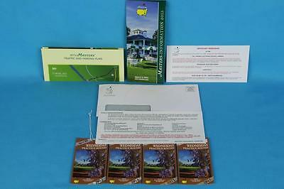 2015 Masters Wednesday Practice Round Tickets (4) - Full Day Passes 04/08/15