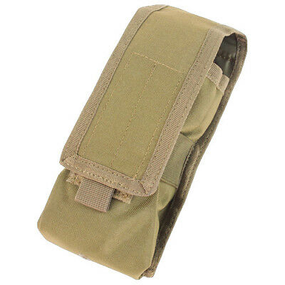 Condor Tactical Molle Radio Pouch Communication Device Pocket Webbing Holder Tan