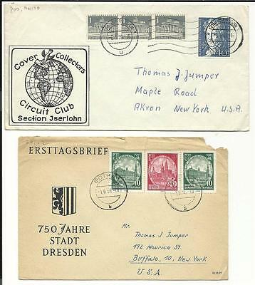 2 1950s Germany First Day Covers
