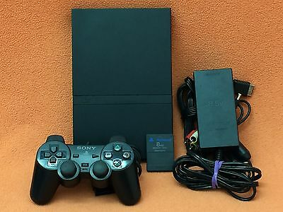 Sony PlayStation Play Station 2 PS2 System Console Slim Nice Condition!