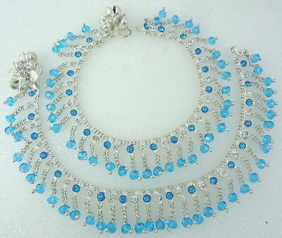 HANDMADE BOLLYWOOD SILVER TONE BELLS ANKLET PAYAL INDIAN TRADITIONAL JEWELRY