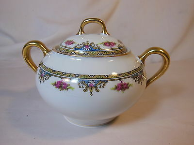 Atq LIMOGES France Covered Sugar Bowl
