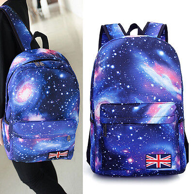 Fashion Star Galaxy Womens Mans Vintage Backpack School Bag Notebook Rucksack 0