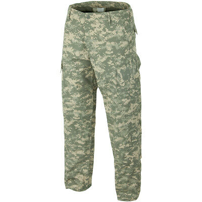 S-XXL ACU Ripstop Army Combat Cargo Trousers Mens Tactical Security Olive OD