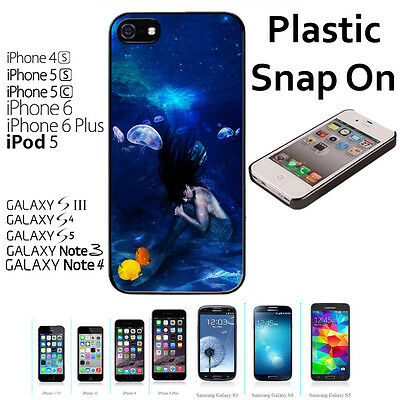 Beautiful Mermaid Custom Case For iPhone 4S/5/5S/5C/6/6+Galaxy S4/S5-Snap On