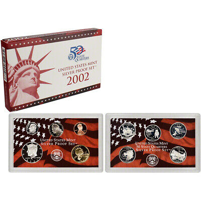 2002 US Mint Silver Proof Set