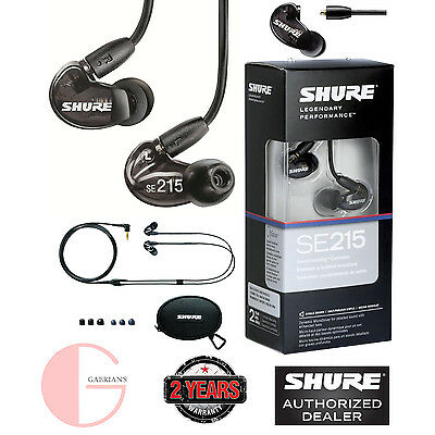 Shure SE215-K Sound Isolating Earphones (Black) USED. U.S Authorized Dealer