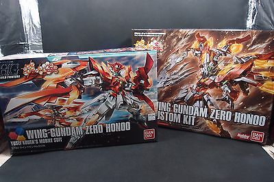 Bandai HG 1/144 Wing Gundam Zero Flame + Custom kit Build Fighters Honoo Gunpla