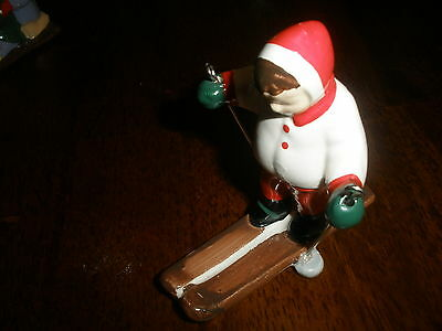 "DEPT. 56 -VINTAGE- A LITTLE GIRL SKIING -3"" X 3""-ADORABLE!   RT1554"