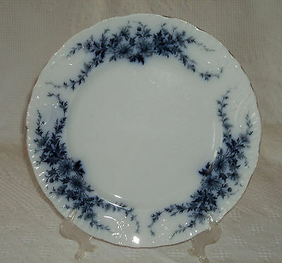 antique Flow Blue Burgess & Leigh semi porcelain DINNER PLATE Daisy pattern nice