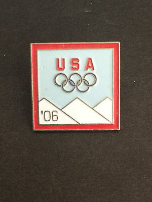 USA 2006 TORINO / TURIN ITALY OLYMPIC RINGS GAMES COLLECTORS PIN