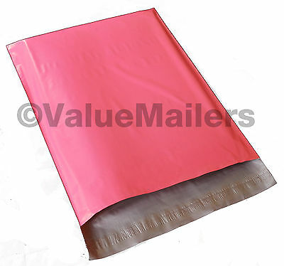 100 10x13 Pink Poly Mailers Shipping Envelopes Couture Boutique Quality Bags