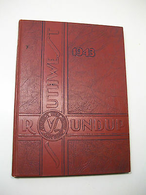 1943 The Roundup Southwest High School St Louis Missiouri Yearbook Annual WWII