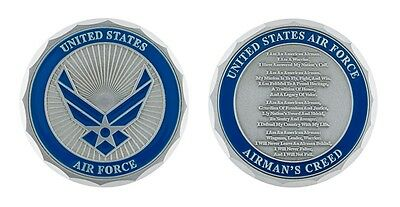 "Air Force Airman's Creed 1.75""  Logo Challenge Coin"