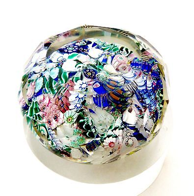 ANTIQUE NEW ENGLAND GLASS COMPANY FANCY CUT SCRAMBLE MILLEFIORI PAPERWEIGHT