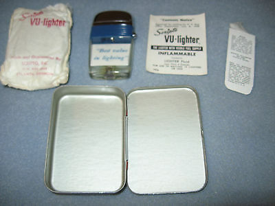 Vintage Scripto New Windguard Vu-Lighter in original packaging-never used