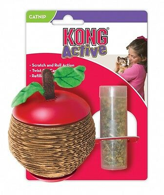 Kong Cat Scratch Apple Cat Kitten Toy Play Time Fill With Catnip Interactive