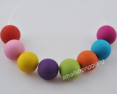 100 pcs Loose mixed color Matt acrylic spacer findings beads charms 8mm