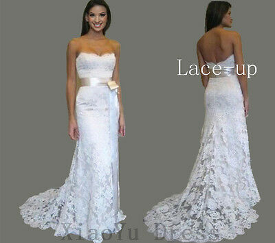 New White Lace In Stock Wedding Dress Bridal Gown Ball Size 8