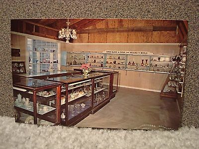 Glass Slipper China Shop at Time Was Village Museum IL Vintage Postcard