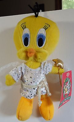 Warner Brothers 2000 Tweety Sugar Plum Fairy bean bag plush figure-New-w/tags