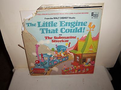 """1969 Disney """"The Little Engine That Could & The Submarine Streetcar"""" Record (33)"""