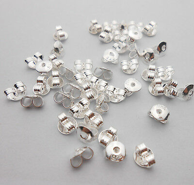 Wholesale DIY 925 Sterling Silver BACK STOPPERS Earrings Jewelry Stud Findings