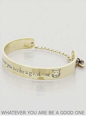 Whatever you are be a Good One - Message Bangle - GOLD