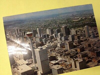 Postcard Calgary Alberta Canada Downtown City View Tower Vintage Card 1975
