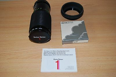 Vivitar  Series 1 70-210mm f3.5 Macro zoom lens in Al mount - for Nikon