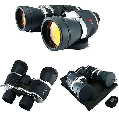 Day/Night 20x60 High Quality Outdoor BINOCULARS Ruby Lenses w/Pouch