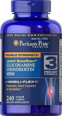 GLUCOSAMINE AND CHONDROITIN & MSM JOINT SOOTHER 1500MG HIGH STRENGTH *x240 Caps