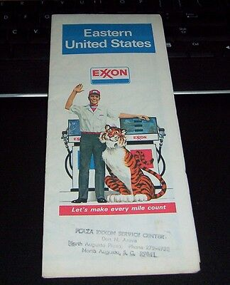 1978 EXXON EASTERN UNITED STATES ROAD MAP (Tony the Tiger Tiger Tips)