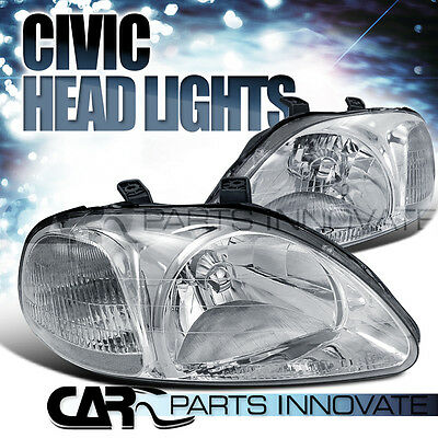 fit 1996-1998 HONDA CIVIC EK EJ JDM CLEAR CRYSTAL HEAD LIGHTS LAMP