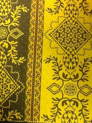 """Estate Fabric Societe Charles Demery Souleiado French 6 Panels woven 13"""" Square"""