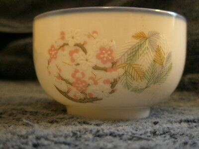 Noritake china teacup or nut cup, United Airlines, cherry blossoms, CU576