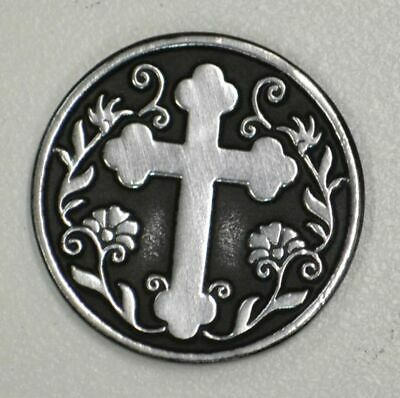 WITH GOD ALL... Pocket Token With Message / Prayer 31mm Diameter Metal