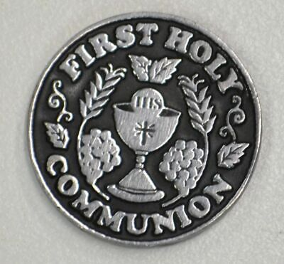 FIRST HOLY COMMUNION... Pocket Token With Message 31mm Diameter Metal