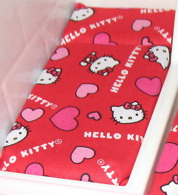 DOLLHOUSE BED MATTRESS LITTLE TIKES HELLO KITTY RED FABRIC 2ND ITEM SHIPS FREE