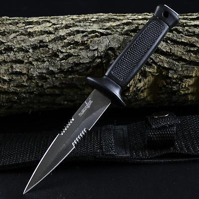 """7"""" TACTICAL COMBAT BOOT KNIFE Survival Hunting MILITARY BOWIE Fixed Blade SHEATH"""