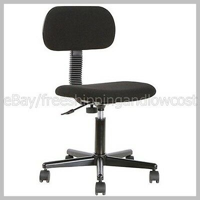 Office Desk Armless Rolling Black Mainstays Fabric Task Swivel Chair on Casters