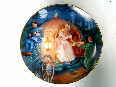 """Franklin Mint """"cinderella's Journey """"  Limited Ed.  Plate With Crystal & Cert."""