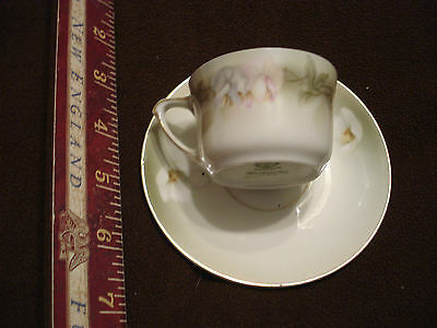Vintage RS Prussia German Floral Tea cup and saucer delicate