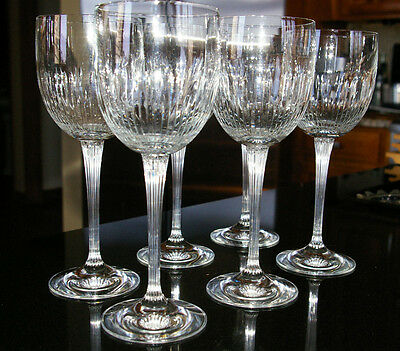 6 Pristine Schott-Zwiesel Long Stem Cut Crystal Glass. Replacements.