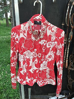 Red And Nude Show Shirt PRICE REDUCED