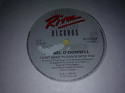"""Daniel O'Donnell -  """"I Just want to dance with you""""  7""""  (1992)"""